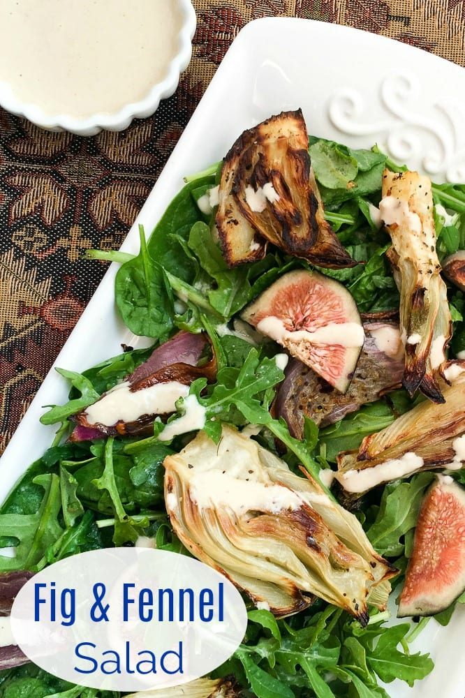 pin fig fennel salad with dressing