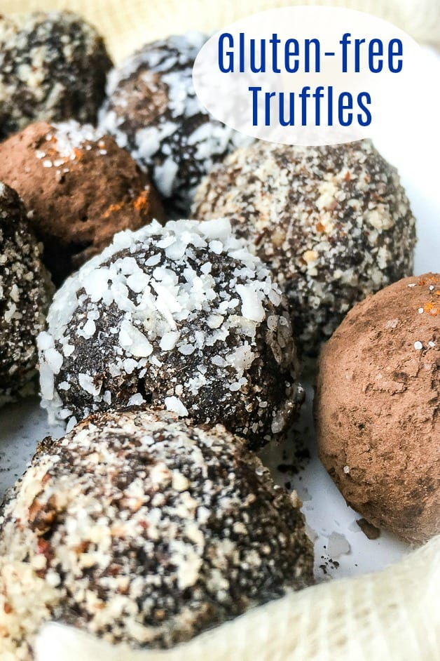 gluten free chocolate hazelnut truffles