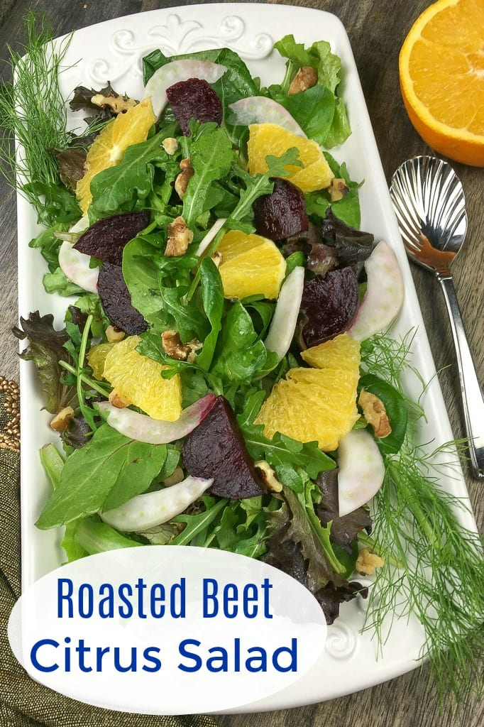 Roasted Beet Citrus Salad Recipe #Salad #SaladRecipe #SaladRecipes