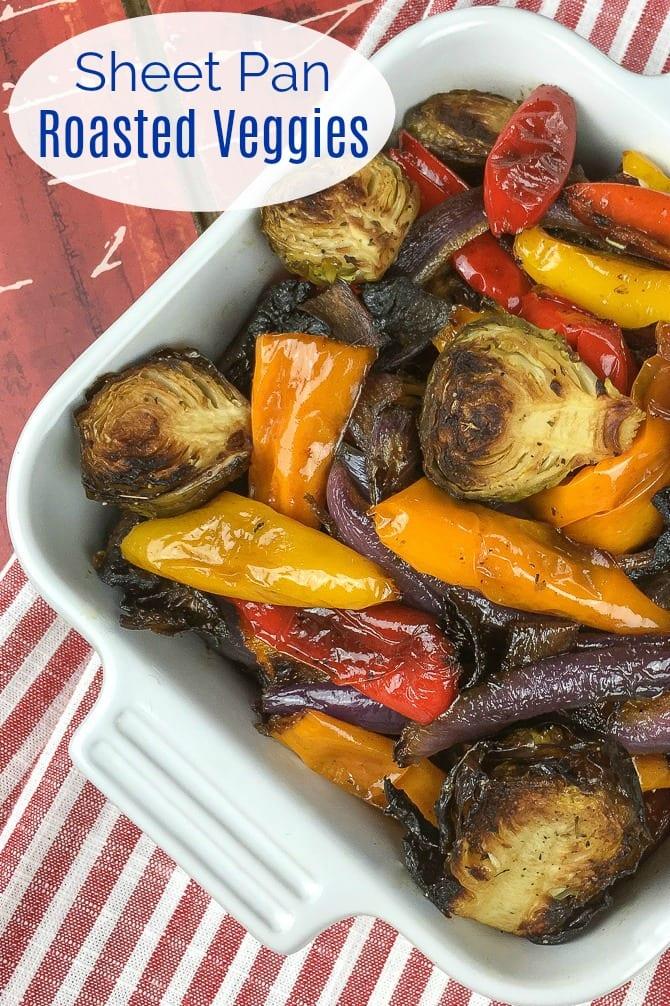 pin roasted seasoned vegetables