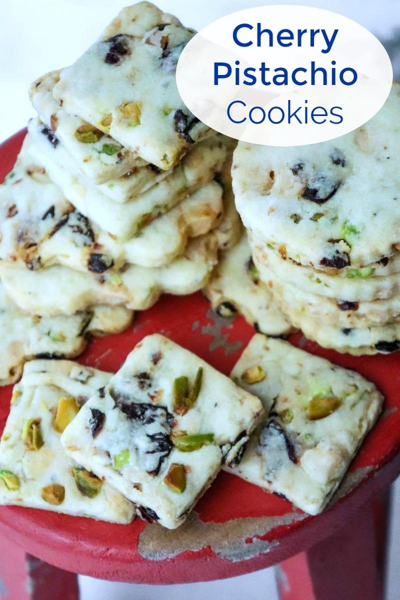 White Chocolate Cherry Pistachio Cookies Recipe