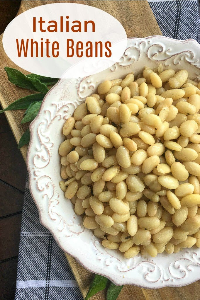 Simple Italian White Beans Recipe with Garlic and Sage