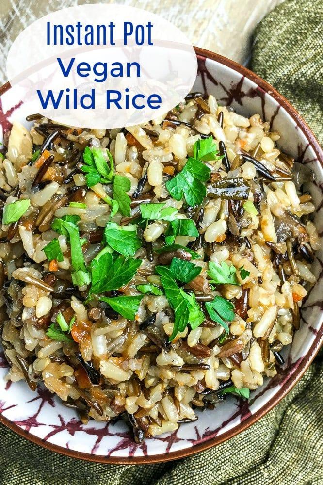 Easy Vegan Instant Pot Wild Rice Pilaf Recipe #WildRice #InstantPotRecipes #InstantPot