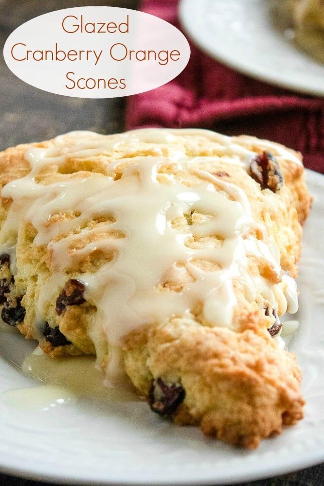 Glazed Cranberry Scones Recipe #scones #Cranberry #CranberryScones #GlazedScones