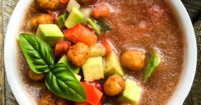 bowl of cold gazpacho