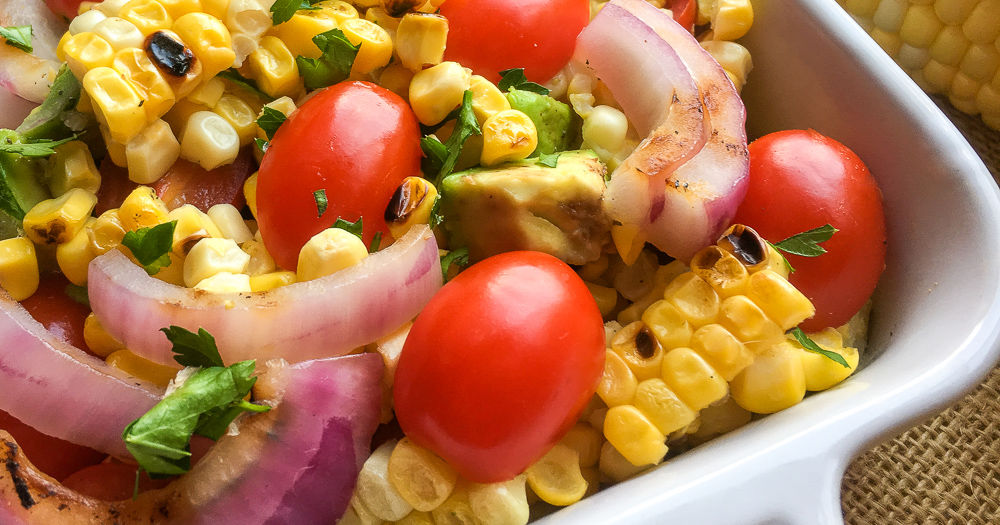 feature grilled corn salad
