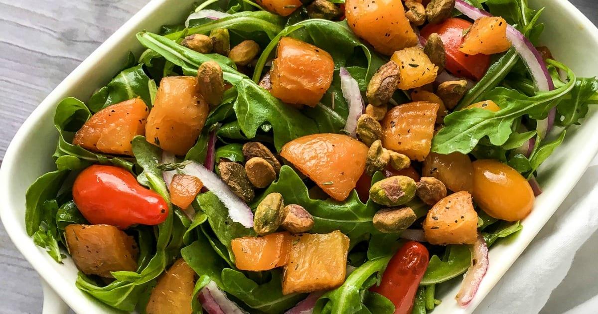 feature pistachio golden beet salad