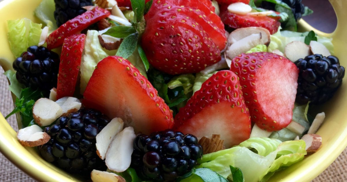feature strawberry blackberry salad