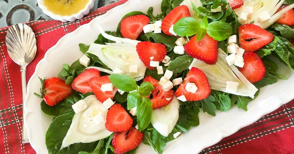 feature strawberry fennel salad