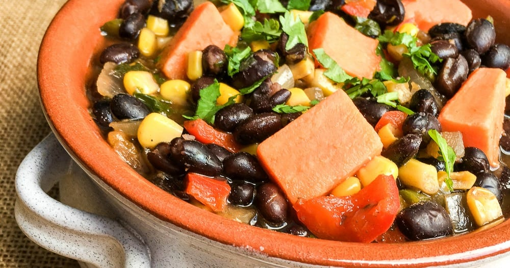 feature veganblack bean stew