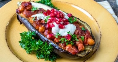 feature vegan stuffed eggplant