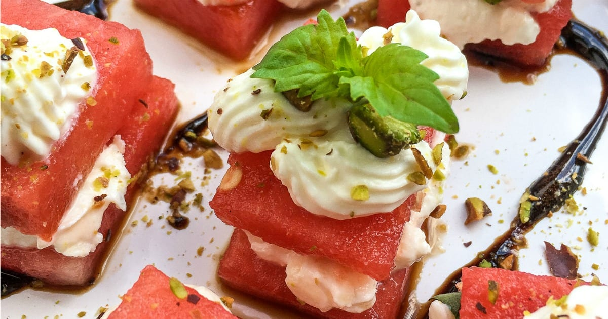 feature watermelon feta appetizer