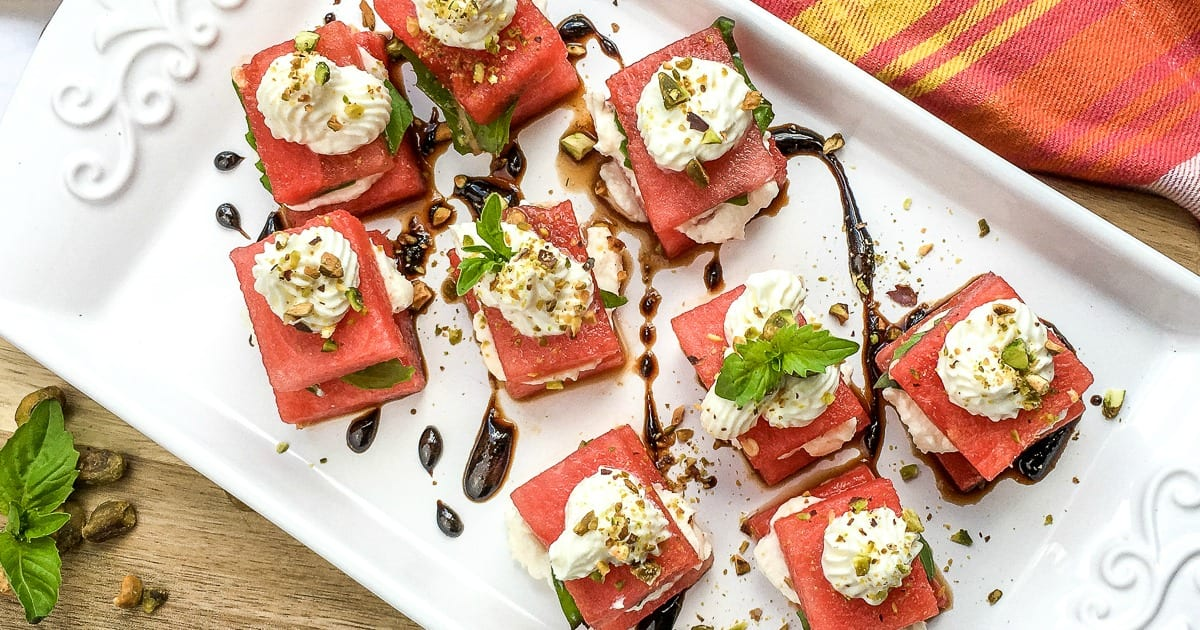 feature watermelon feta appetizers