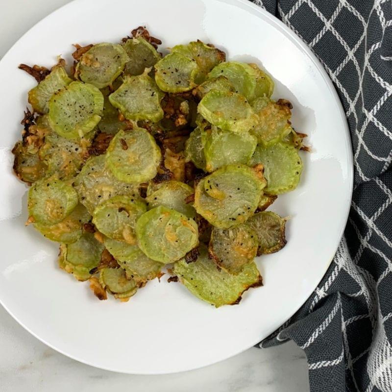 roasted broccoi stems