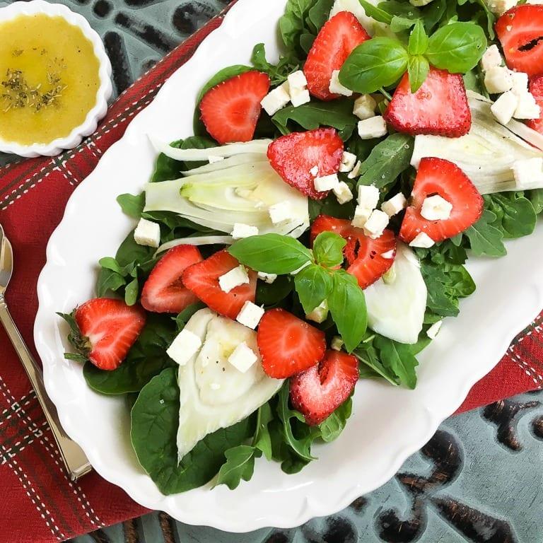 insta strawberry fennel salad