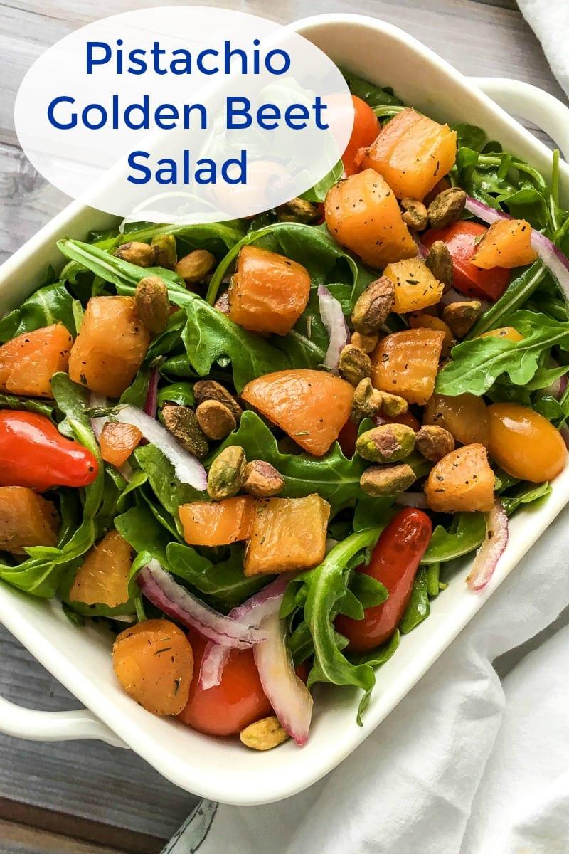 pin a golden beet salad