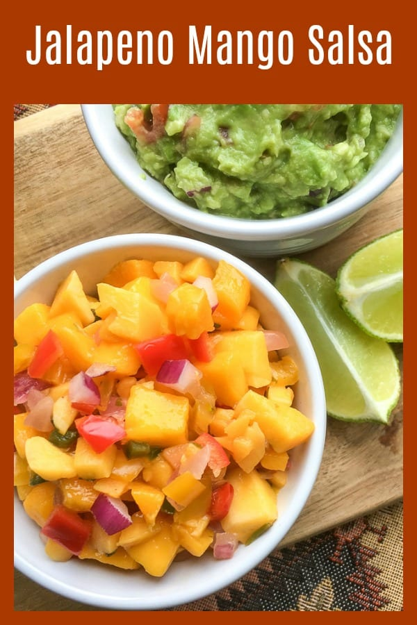 pin mango salsa and limes