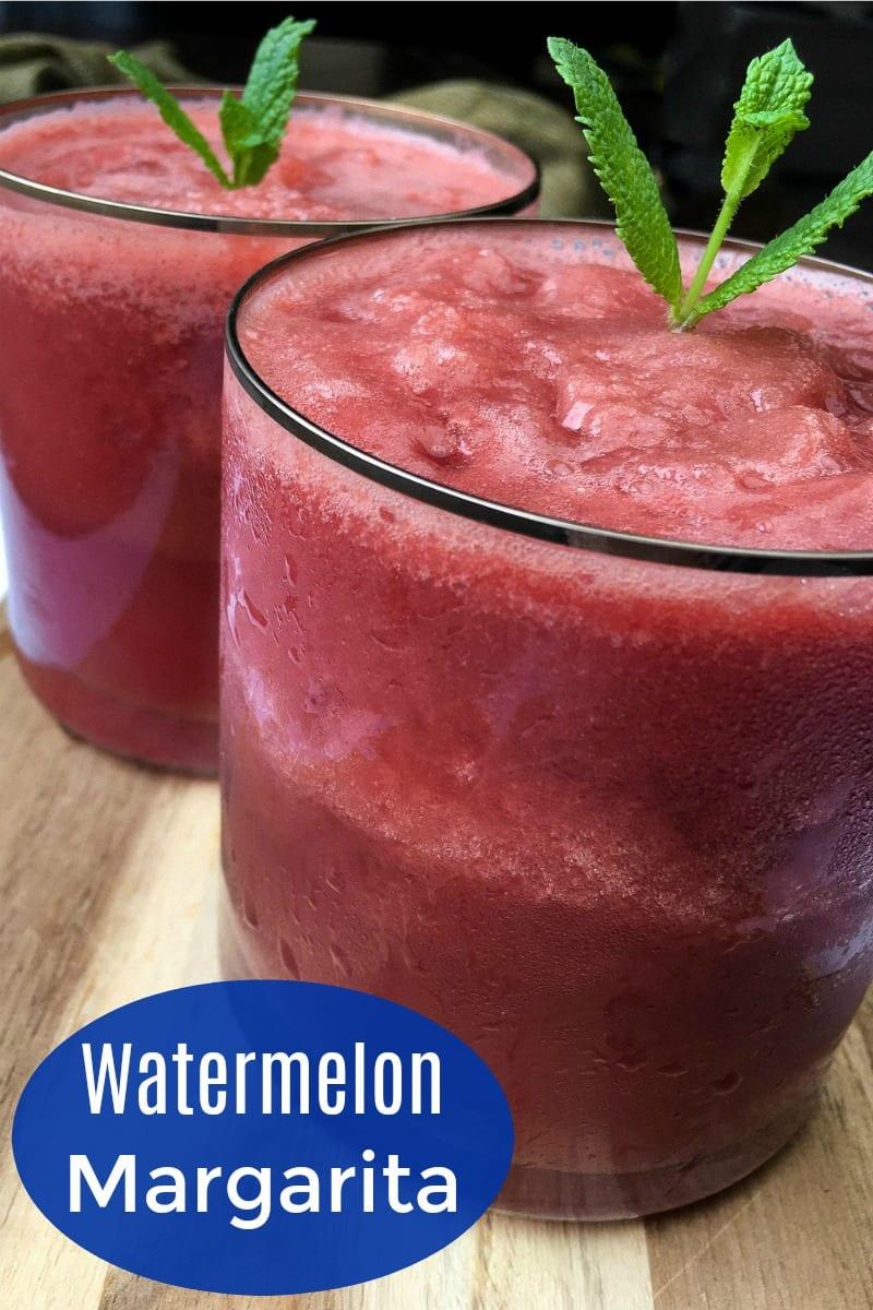pin mint watermelon margaritas