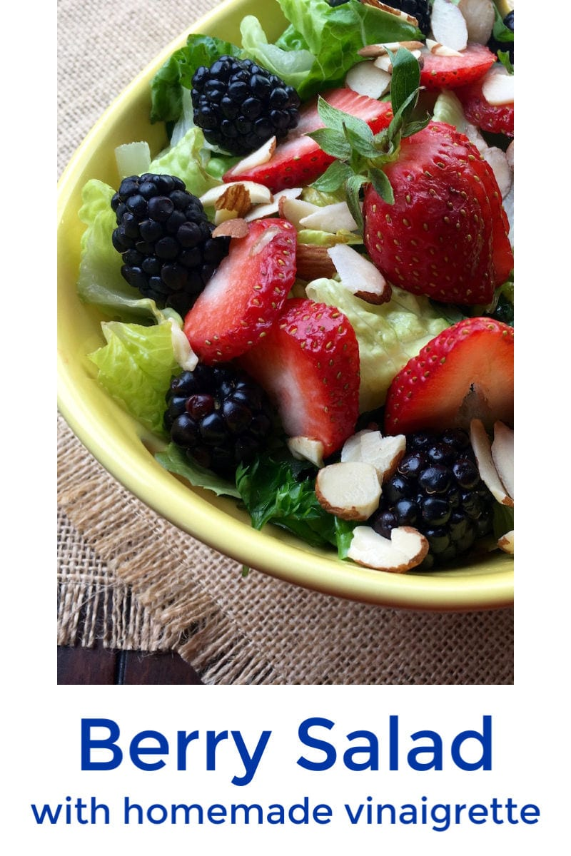 When you want a salad that is extra special, toss this homemade raspberry vinaigrette dressing into my fresh mixed berry salad.