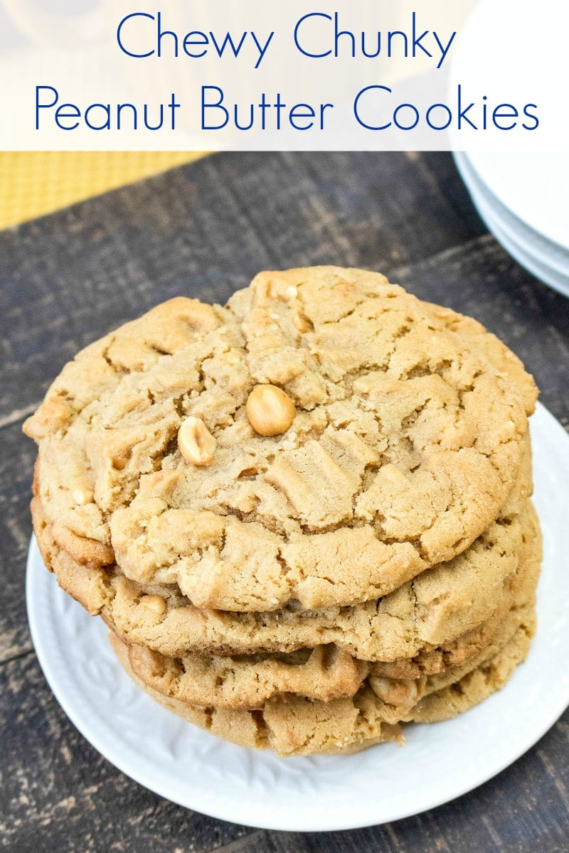 pin peanut butter cookie stack