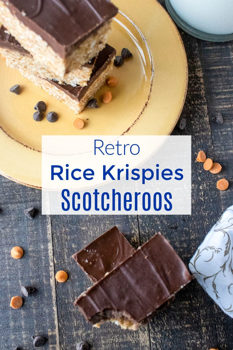 #NoBakeDessert Take a trip down memory lane, when you make these retro Rice Krispies Scotcheroos that combine chocolate, butterscotch and peanut butter.