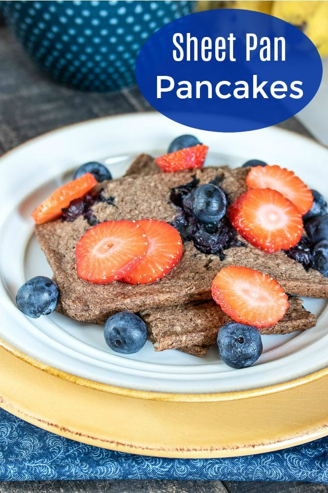 Sheet Pan Blueberry Pancakes Recipe #pancakes #sheetpanmeal