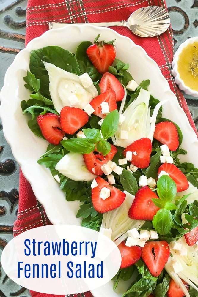 Quick and Easy Strawberry Fennel Salad Recipe #SaladRecipes #Fennel #StrawberrySalad #FennelSalad