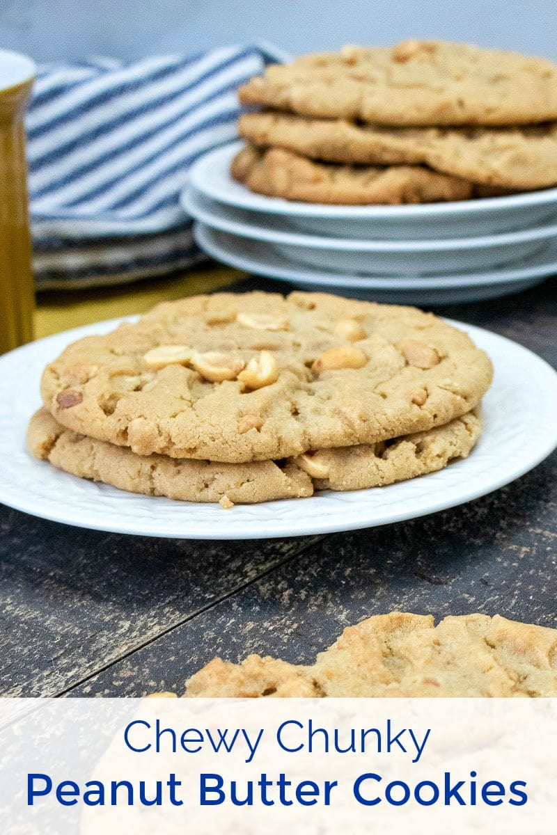 pin tasty chunky peanut butter cookies