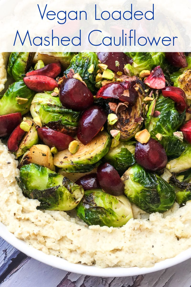 tasty loaded vegan cauliflower mash