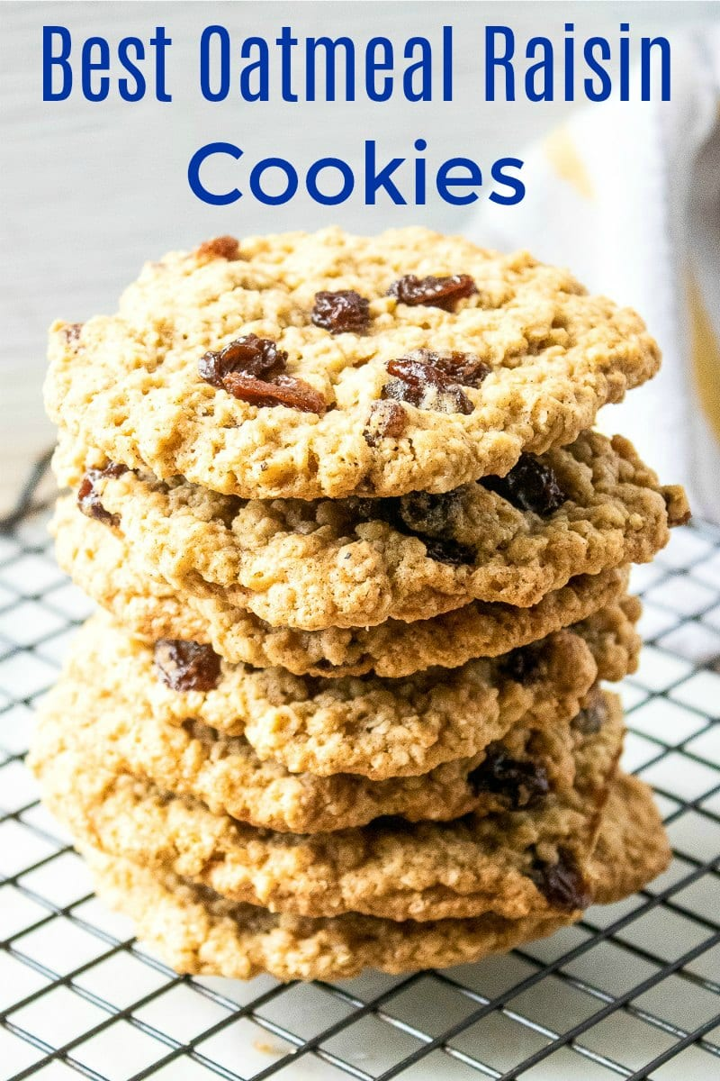 pin tasty stack of oatmeal cookies