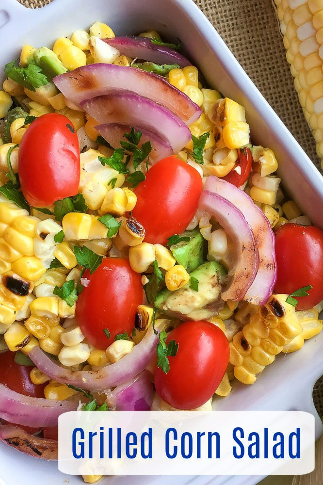 If you like corn on the cob as much as I do, you will love this vegan grilled corn salad that can be prepared on an outdoor grill or on the stove