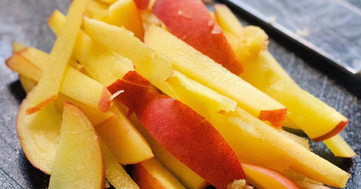 chopped peaches