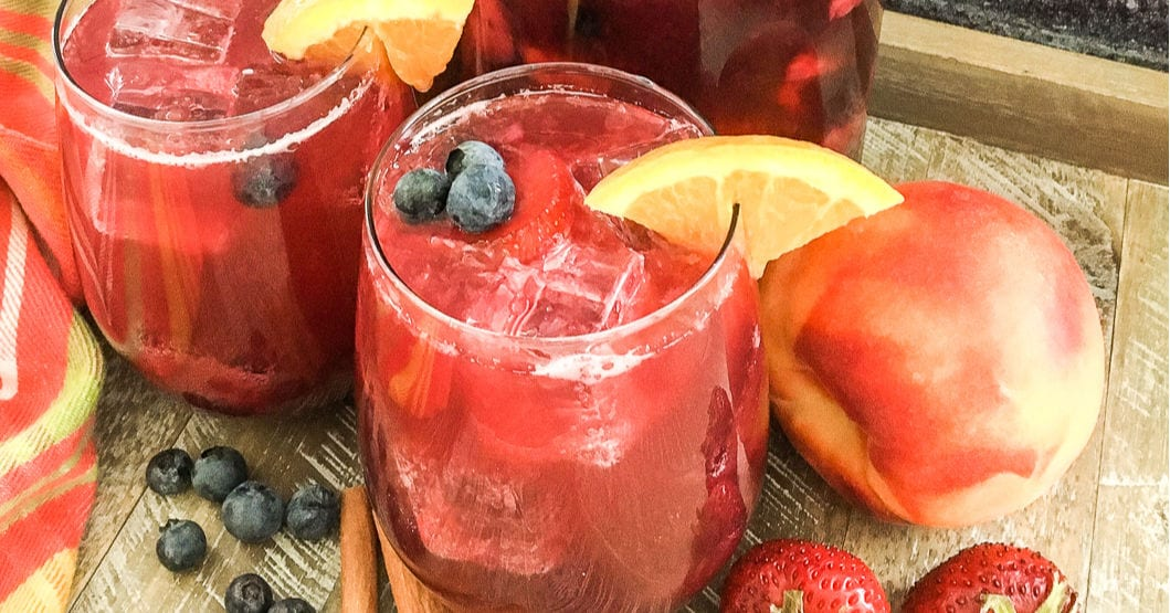 feature berry peach party punch