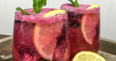 feature blueberry lemonade mocktail