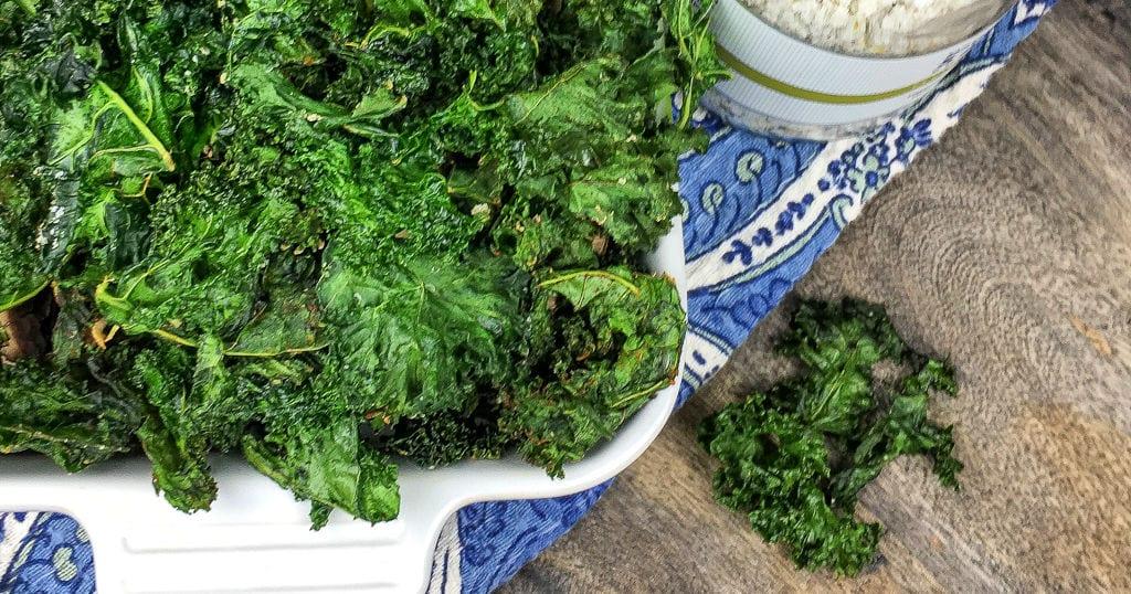 feature crispy seasoned kale chips