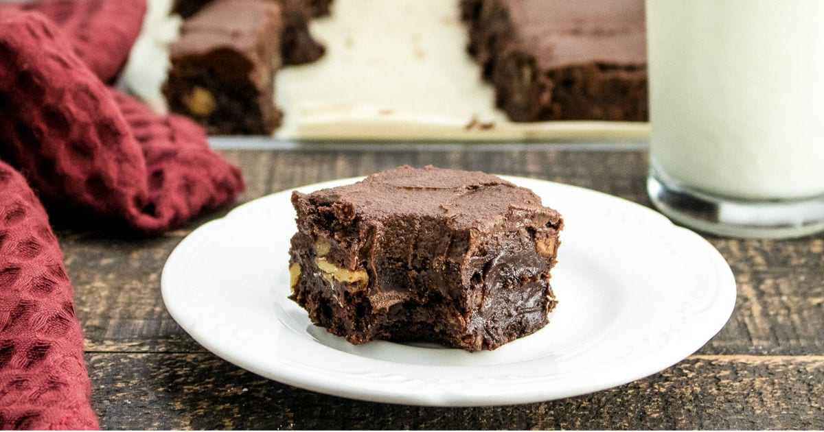 feature frosted fudge brownies