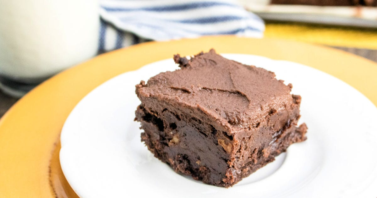feature fudge brownie with frosting