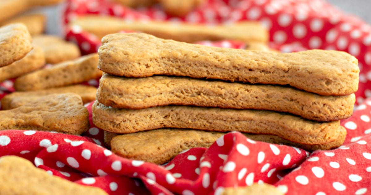 feature homebaked dog treats with peanut butter