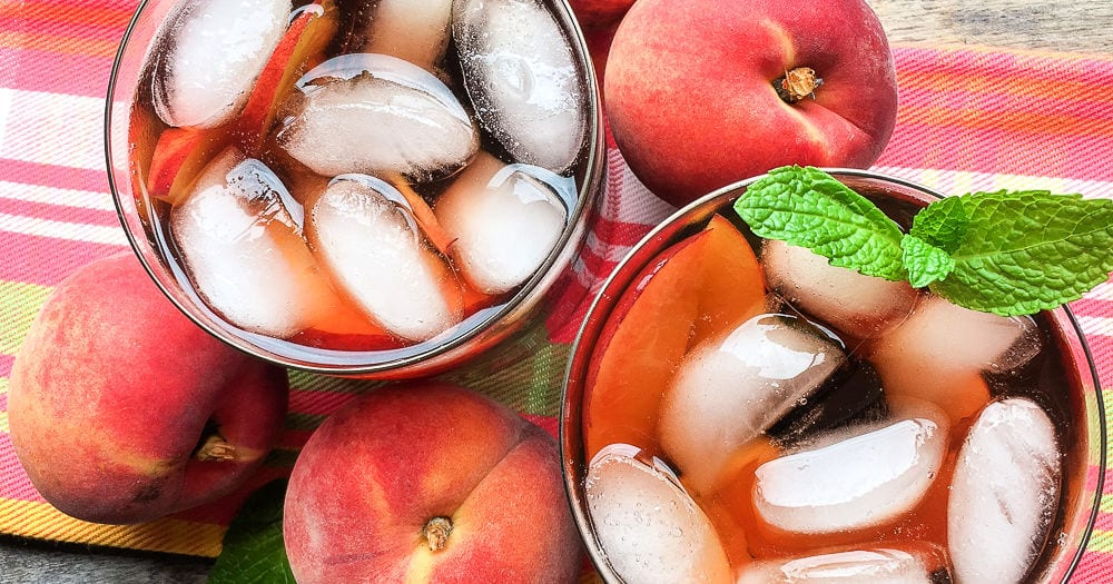 feature instant pot ginger peach iced tea