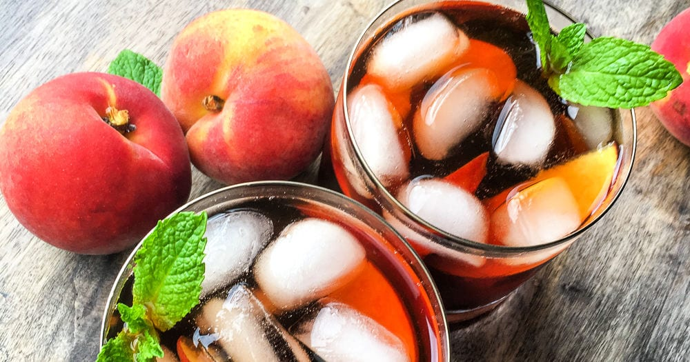 feature instant pot peach ginger iced tea