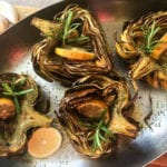Oven Roasted Artichoke Halves Recipe