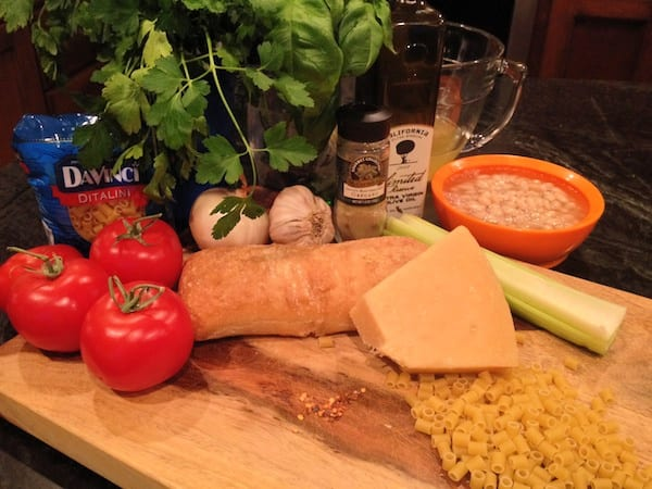 ingredients for pasta fagioli italian soup recipe