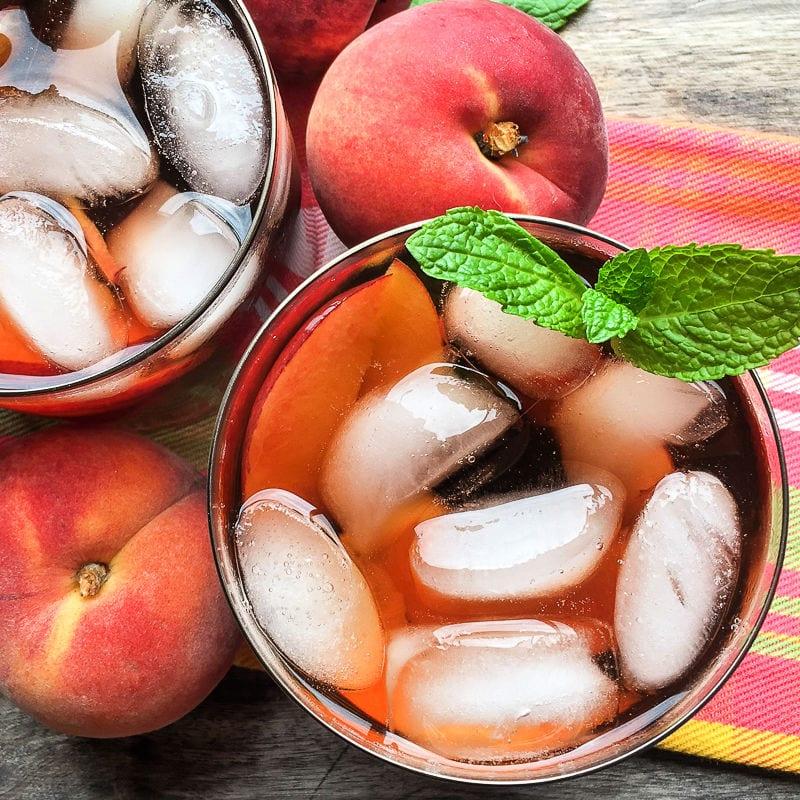 instant pot peach iced tea