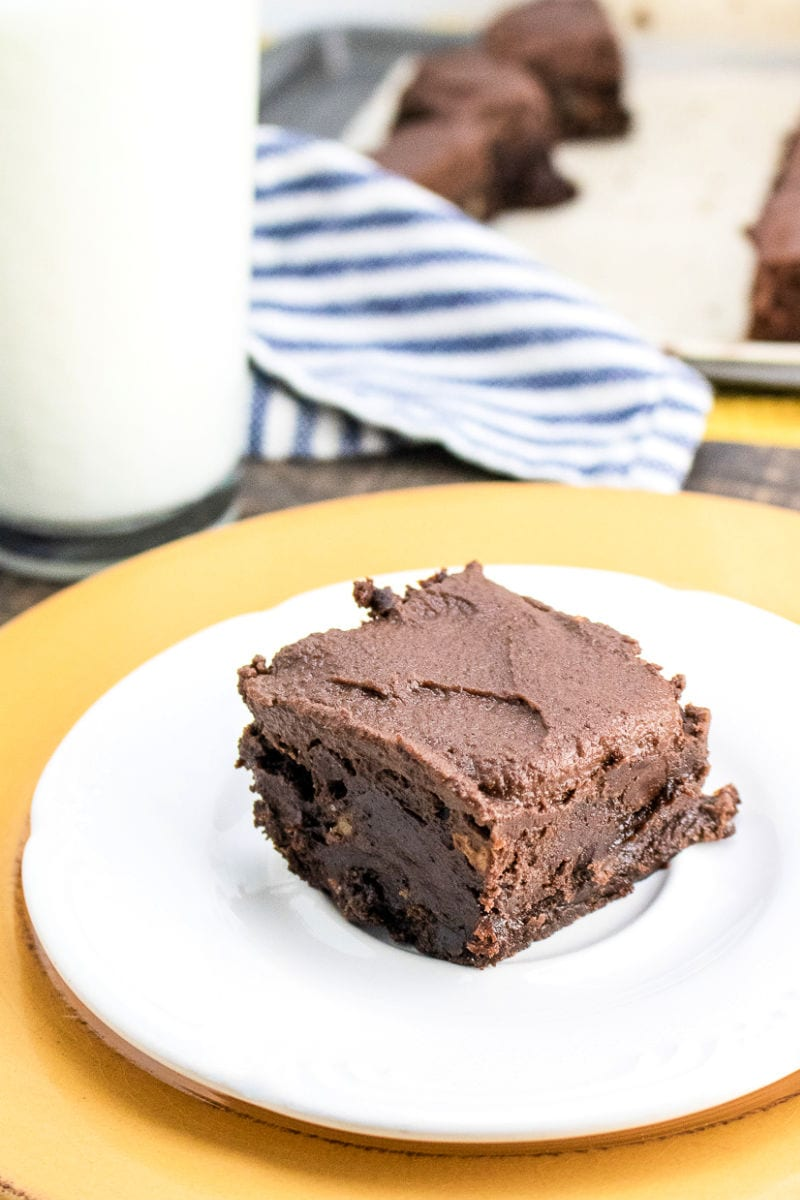 Classic Frosted Fudge Brownies Recipe #Brownies #FudgeBrownies #FrostedBrownies #WalnutBrownies #BrowniesFromScratch