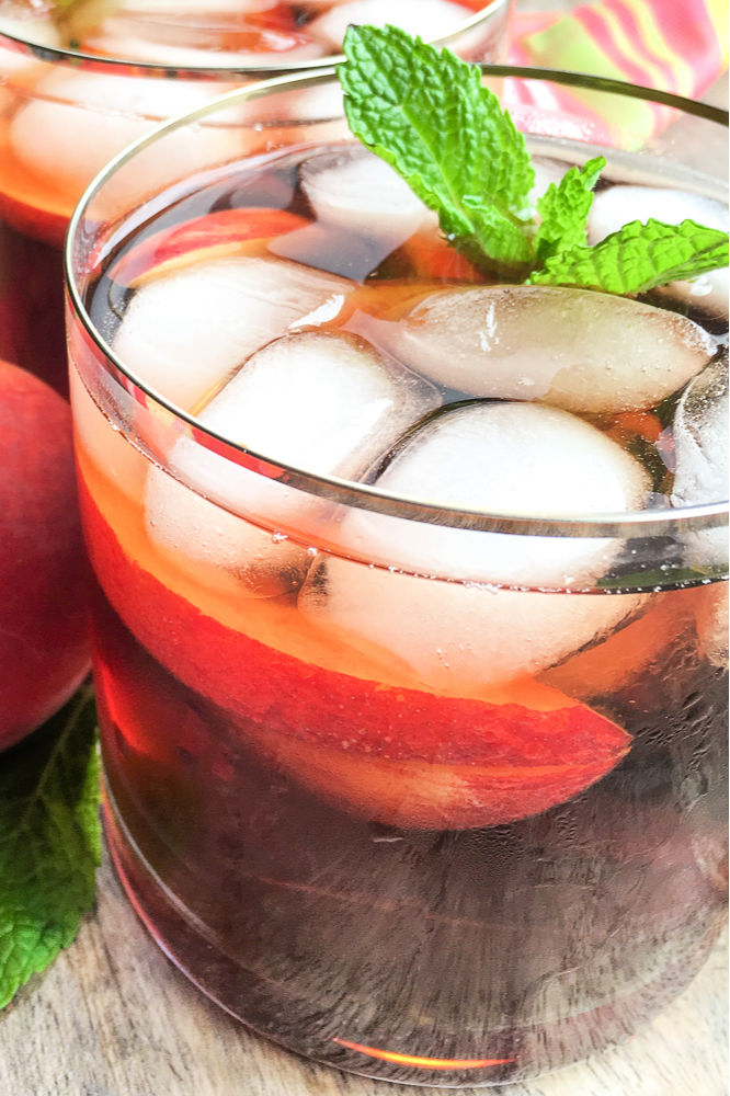 pin instant pot peach iced tea