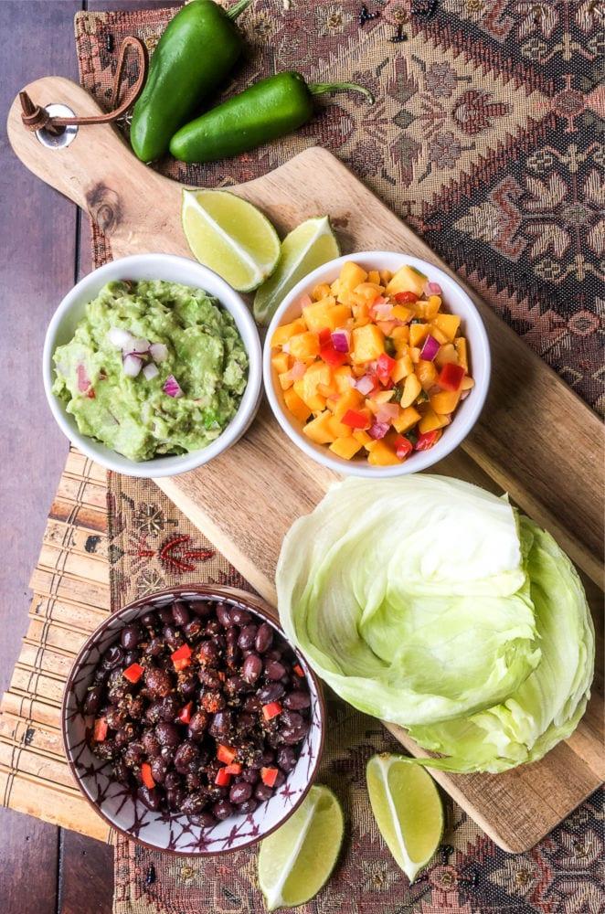 Vegan Black Bean Lettuce Wrap Recipe