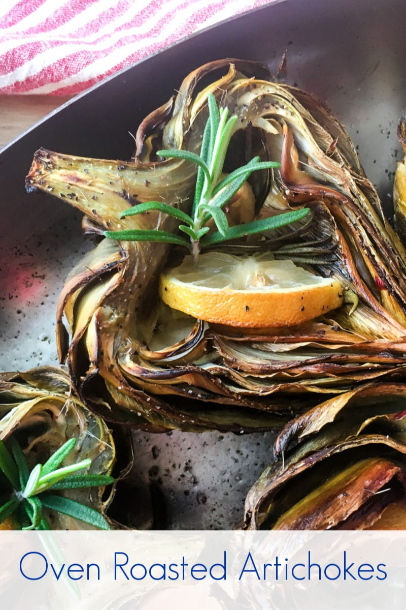 Oven Roasted Artichoke Halves