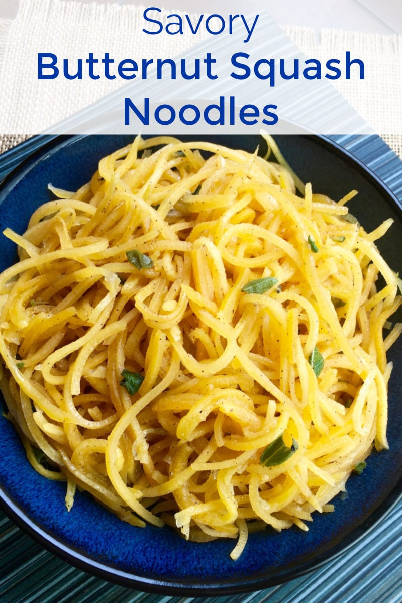 Butternut Squash Noodles Recipe for dinner - When you want a nutritious alternative to regular pasta, make my delicious, savory butternut squash noodles with or without a spiralizer.