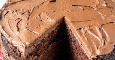 feature creamy chocolate buttercream frosting
