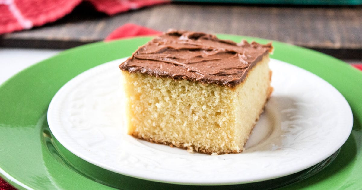 feature homemade yellow cake